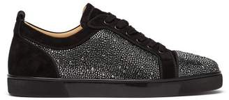 Christian Louboutin Louis Junior Crystal Embellished Trainers - Mens - Black