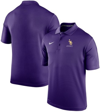 Nike Men's Purple LSU Tigers Varsity Baseball Performance Polo