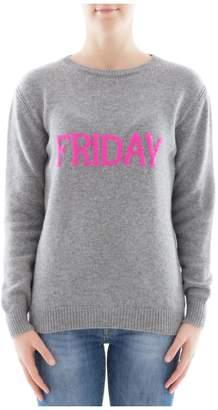 Alberta Ferretti Grey Wool Sweatshirt
