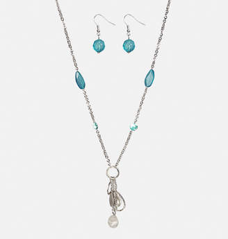Avenue Beaded Charm Drop Necklace