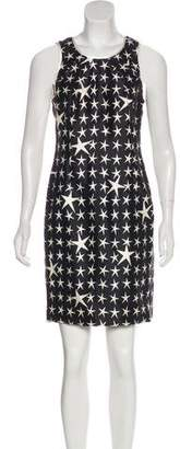 Versace Silk Star Print Dress