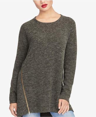 Rachel Roy Asymmetrical Zipper Sweater