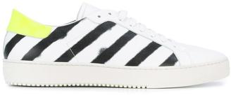 Off-White diagonal spray sneakers $554 thestylecure.com
