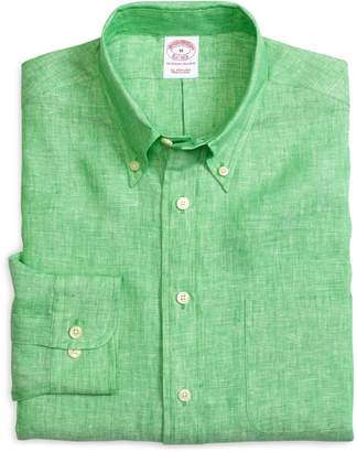 Brooks Brothers Madison Fit Solid Linen Sport Shirt