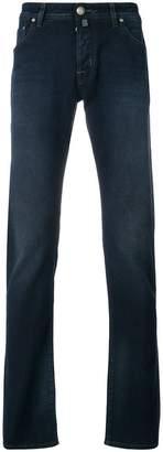 Jacob Cohen stonewashed regular trousers