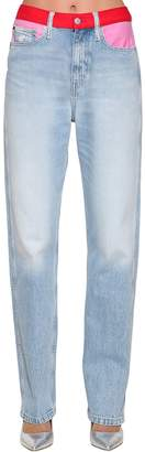 Calvin Klein Jeans Straight Mid Rise Cotton Denim Jeans