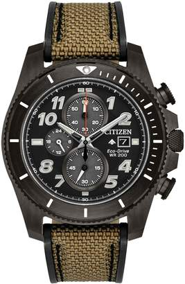 Citizen Promaster Tough Black-Tone Stainless Steel Chronograph Watch