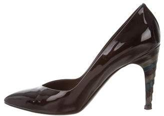 Louis Vuitton Pointed-Toe Patent Leather Pumps