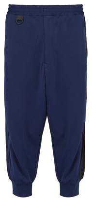 Y-3 Y 3 3 Striped Cotton Blend Track Pants - Mens - Navy