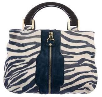 Jimmy Choo Leather-Trimmed Ponyhair Bag