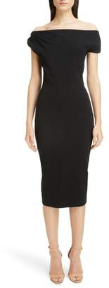 Victoria Beckham Matte Jersey Off the Shoulder Dress
