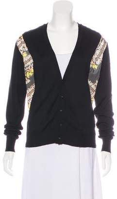 Kolor Long Sleeve Knit Cardigan