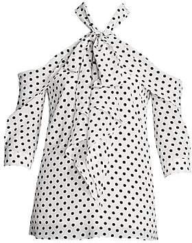 Erdem Women's Elin Polka Dot Silk Blouse