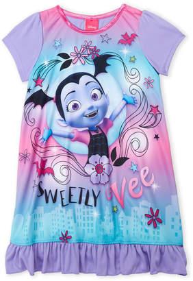 Disney Girls 4-6x) Vamprina Ruffle Hem Nightgown