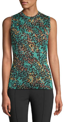 M Missoni Metallic Animal-Print Sleeveless Top