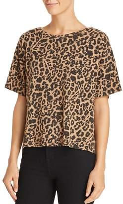LnA Leopard Print Boxy Tee