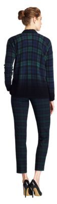Lord & Taylor Petite Black Watch Plaid Cashmere Pullover Sweater
