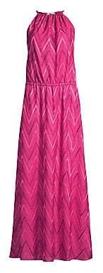 M Missoni Women's Chevron Halter Long Dress