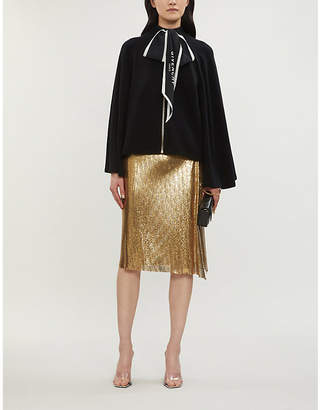 Givenchy Zip-up wool and cashmere-blend cape