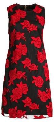Donna Karan Embroidered Sheath Dress