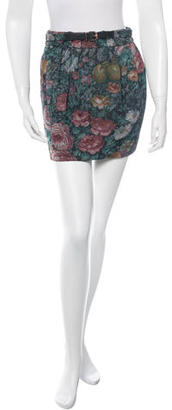Paul Smith Floral Patterned Mini Skirt $65 thestylecure.com