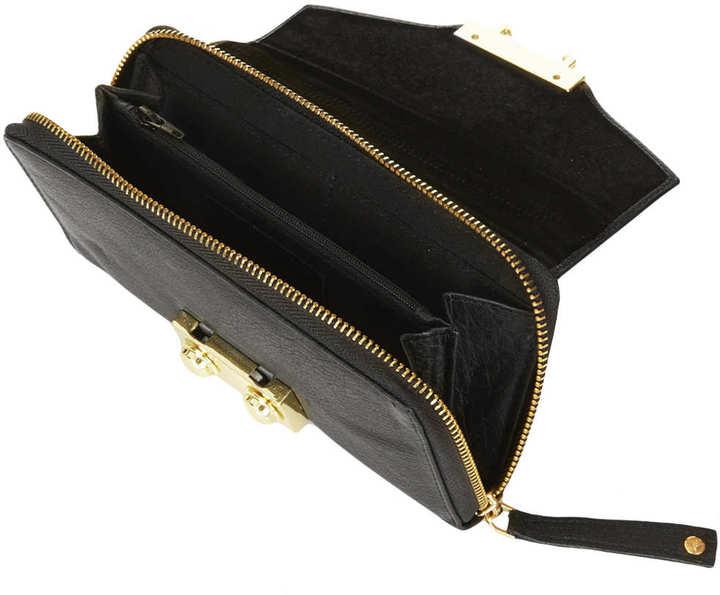 Topshop Boxy Leather Purse