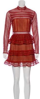 Self-Portrait Guipure Lace Mini Dress