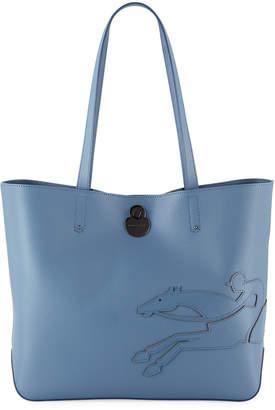 Longchamp Shop-It Medium Leather Shoulder Tote Bag