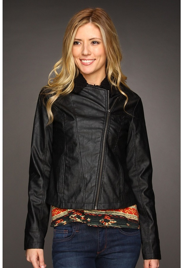 BB Dakota Mazia Pleather Jacket (Black) - Apparel