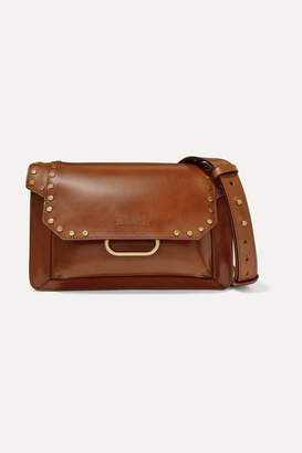 Isabel Marant Maskhia Studded Leather Shoulder Bag - Tan