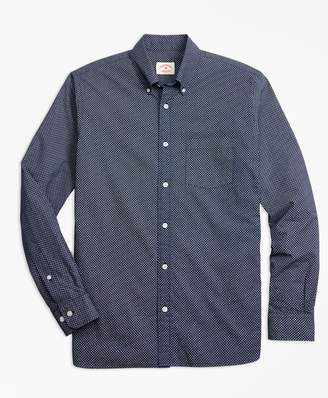 Brooks Brothers Indigo Geometric-Print Chambray Sport Shirt