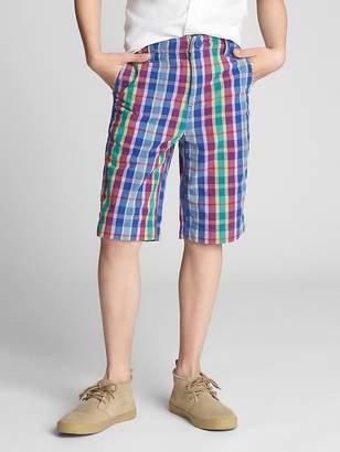 Gap Plaid Everyday Shorts