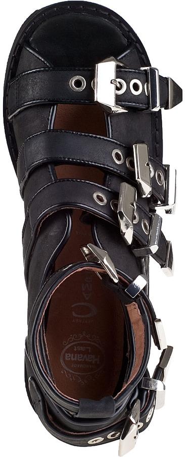 Jeffrey Campbell Nextrane Bootie Black Leather
