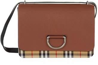 Burberry Medium Check D-Ring Cross Body Bag