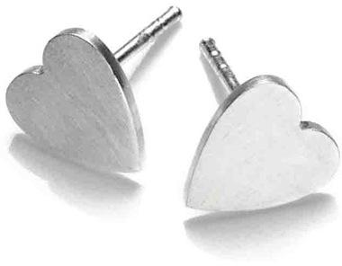 Arena CPH Lova Silver Heart Studs