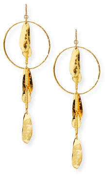 Devon Leigh 18k Gold-Dipped Petal Drop Earrings