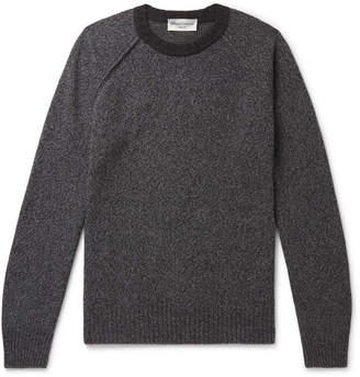 Officine Generale Lars Melange Wool And Cashmere-Blend Sweater