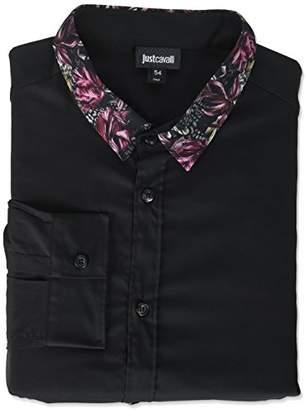 Just Cavalli Men's Woven Print Shirt