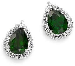 Bloomingdale's Chrome Diopside & Diamond Teardrop Stud Earrings in 14K White Gold - 100% Exclusive