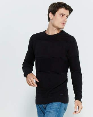 Gant Texture Stripe Long Sleeve Sweater