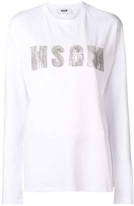MSGM chain-embellished logo top