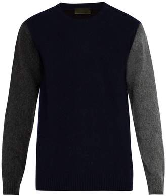 Altea Colour-block wool-blend sweater