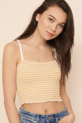 Garage Ribbed Cropped Midi Cami