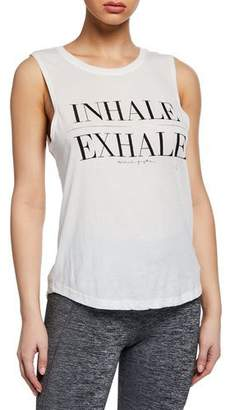 Spiritual Gangster Inhale Graphic Muscle Tank