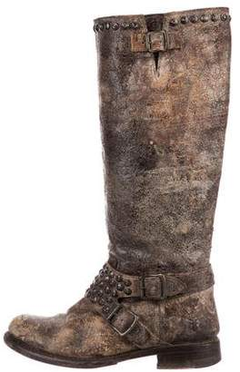 Frye Studded Jenna Knee-High Boots