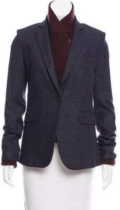 Veronica Beard Rib Knit-Trimmed Wool Blazer w/ Tags