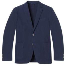 BOSS Hugo Garment-Dyed Cotton Sport Coat, Slim Fit Hanry D 34R Open Blue