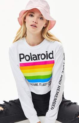 Polaroid Long Sleeve Cropped T-Shirt