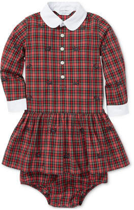 Polo Ralph Lauren Baby Girls Plaid Poplin Cotton Dress