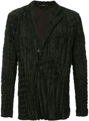Issey Miyake plissé three-button blazer